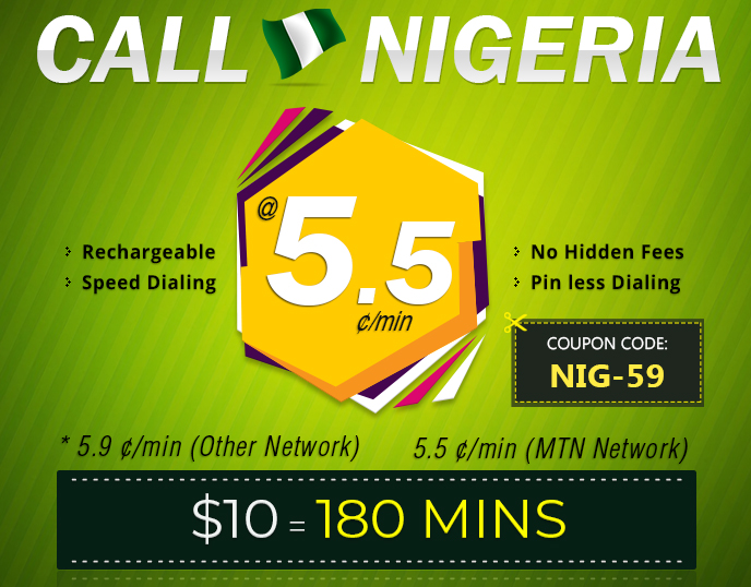 International Phone Calling Cards to Nigeria